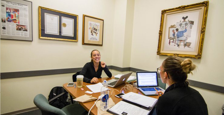 Chapman University Leatherby Libraries Study Room