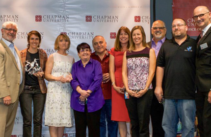 Chapman Faculty and Staff receiving recognition for research funding