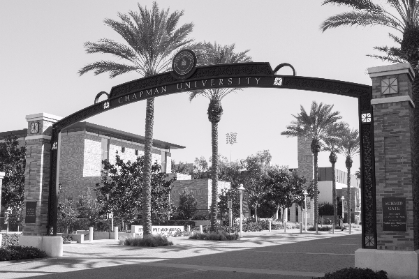 Schmid Gate at Chapman University.