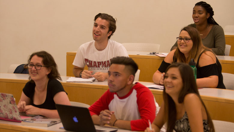 Students in classroom at Chapman University