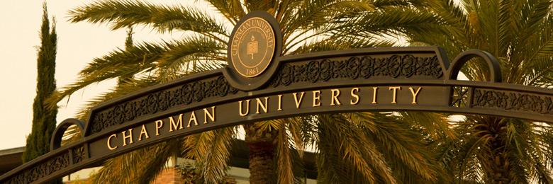 Chapman University's Schmid Gate