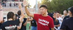Chapman University students at orientation