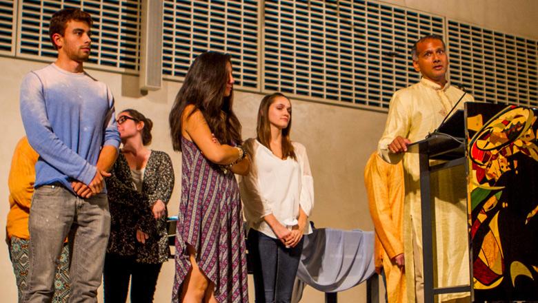 religious ceremony at Chapman