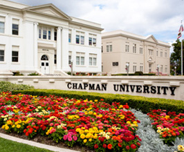 Memorial Hall and Chapman Sign
