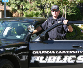 Chapman Public Safety officer and car