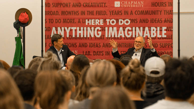 Speaker at a career center event