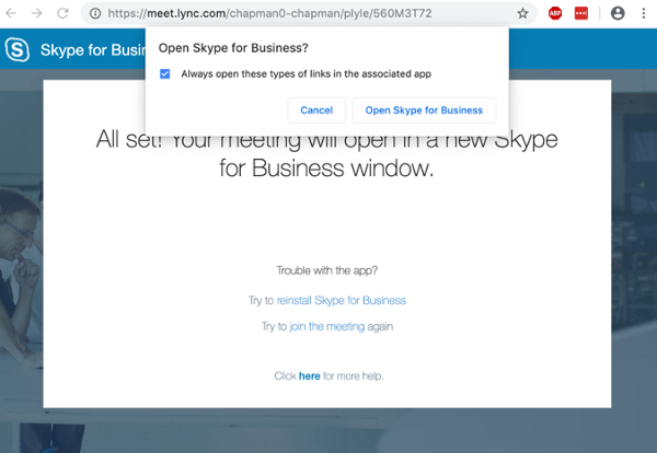Skype for Business | Software | Information Systems
