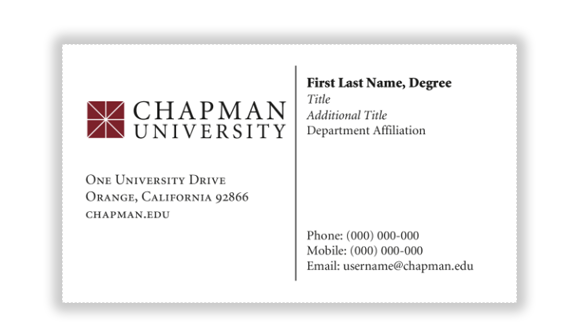Stationery orders strategic marketing and communications chapman business card sample colourmoves