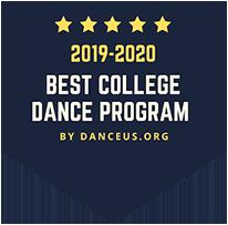 Best college dance program badge