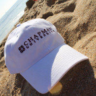 Chapman hat on sand.