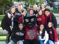 Students with Pete the Panther