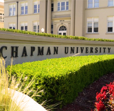 Chapman University sign on campus