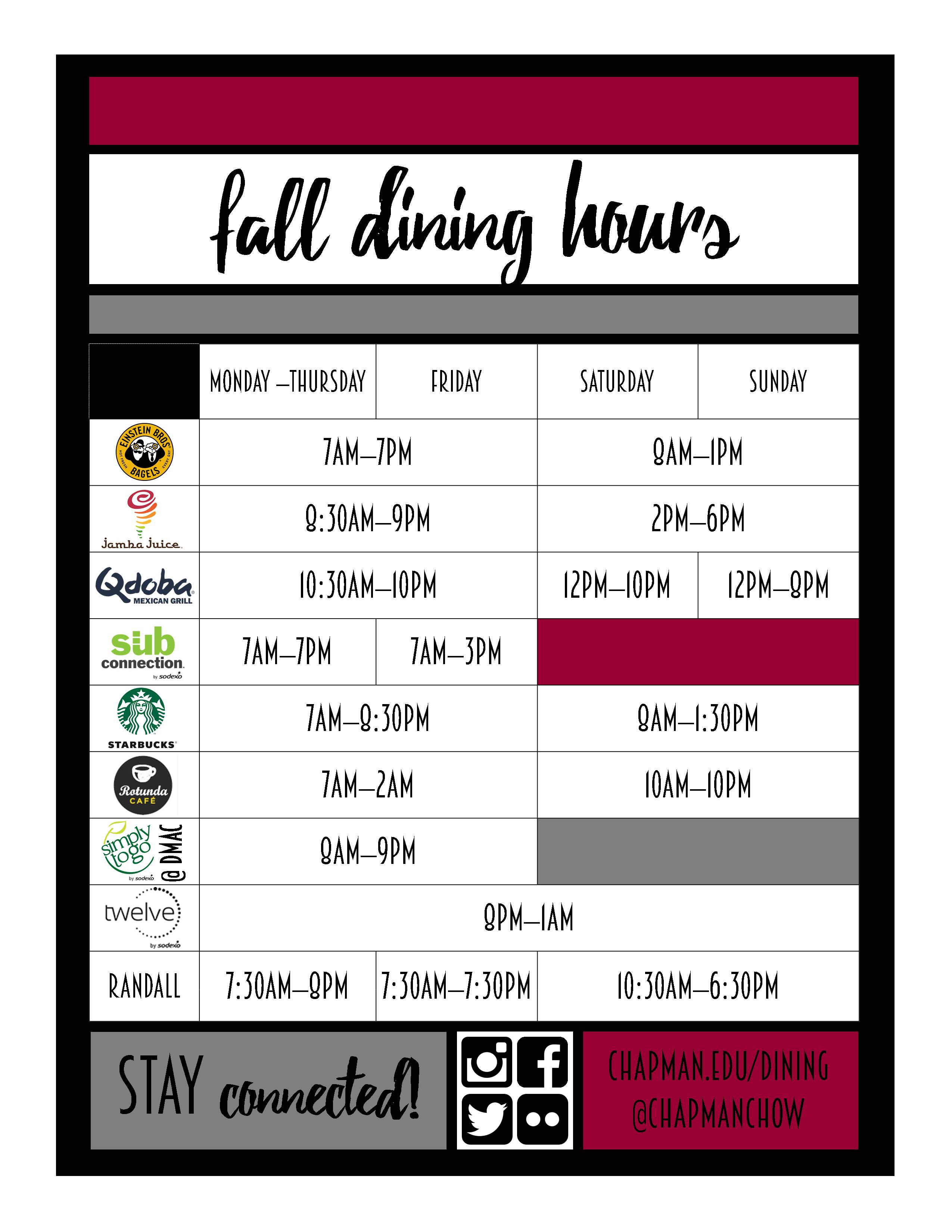 Facility Hours Student Ask Chapman University