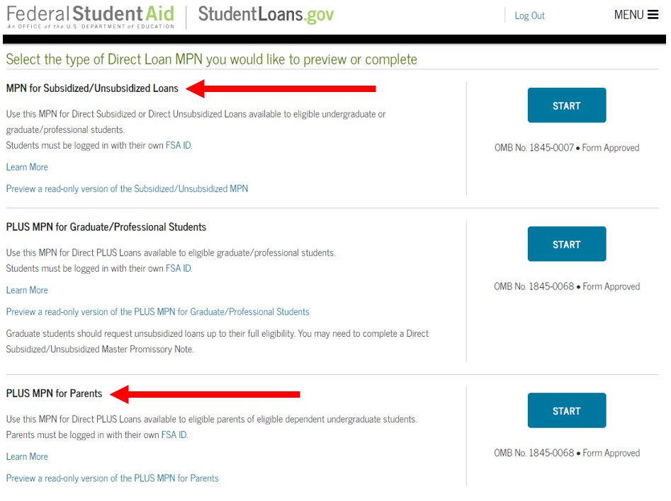 Image demonstrating how to navigate the StudentAid.gov website.