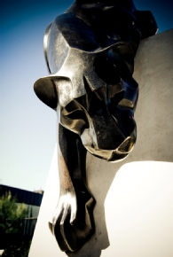 Statue of panther.